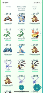 Legendary Account - 40 level - 2090 Pokemon - Team Mystic #539