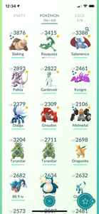 Legendary Account - 34 level - Team Mystic #546