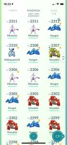 Legendary Account - 40 Level - Team Valor - 1380 Pokemon #578