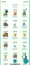 Load image into Gallery viewer, Legendary Account - 37 level  - 636 Pokemon - Team Mystic #694