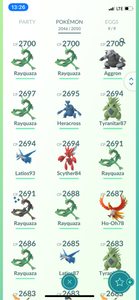 Legendary Account - 39 Level - Team Mystic - 2040 Pokemon #566