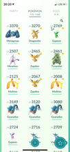 Load image into Gallery viewer, Legendary Account - 35 level - 772 Pokemon - Team Mystic #596