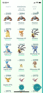 Legendary Account - 35 level - 692 Pokemon - Team Mystic #600