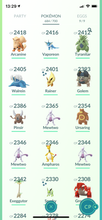 Load image into Gallery viewer, Legendary Account - 36 level - 684 Pokemon - Team Mystic #601