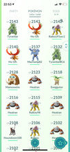 Load image into Gallery viewer, Legendary Account - 36 level - 1450 Pokemon - Team Mystic #628