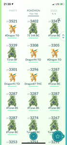 Legendary Account - 38 level - 714 Pokemon - Team Mystic #473