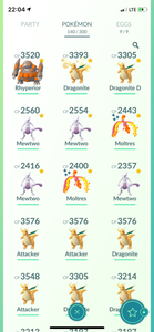 Legendary Account - 34 level - Team Mystic #475