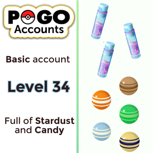 Pokemon GO - Level 34 Account - www.pogo-accounts.shop