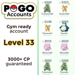 Gym Ready - Level 33 Account - www.pogo-accounts.shop