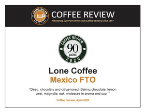 Mexico Fair Trade Organic | 90+ Points on Coffee Review
