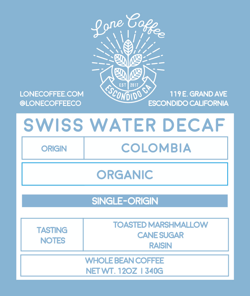 Swiss Water Organic Colombia - DECAF
