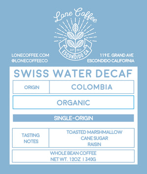 Swiss Water Decaf Organic Colombia