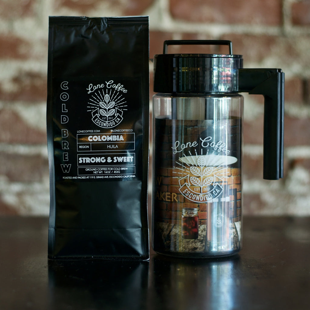 2020 Summer Bundle - Cold Brew Maker and Two (2) Pounds of Colombia Cold Brew Coffee