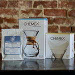 30% OFF CHEMEX STARTER BUNDLE - Chemex, Filters & Two (2) Pounds of Lone Coffee