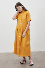 Studio Shirt Dress Saffron