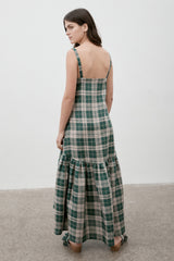 Ritual Linen Dress Hunter Check