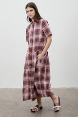 Studio Shirt Dress Coney Island Plaid