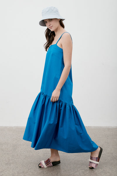 Ritual Linen Dress Cobalt