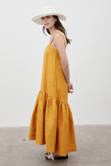Ritual Linen Dress Saffron