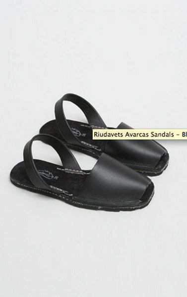 Riudavets Avarcas Sandals - Black