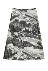 County A-Line Skirt -Etching Print