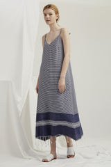 Slip Dress - Turkish Weave Navy AVAILABLE MID NOVEMBER