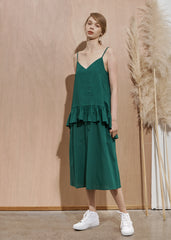 PARASOL DRESS - Green