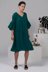 Bermuda Dress -Emerald Green