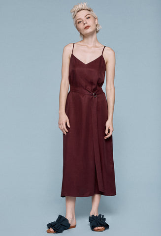 Slip Dress w/belt -Grape