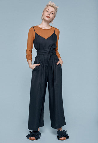 Woodchip Jumpsuit- Navy