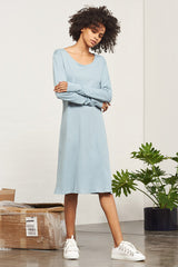BUILDING BLOCK - Long Sleeved Dress - Dusty Blue