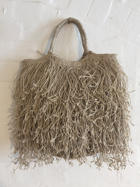 Macrame Fringe Bag - Natural