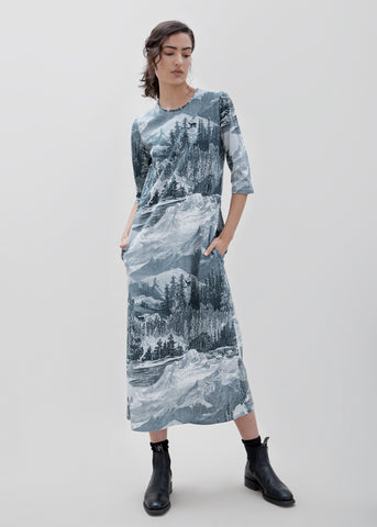 Boardwalk TShirt Dress - Etching Print  - MORE STOCK ARRIVING END OF MAY
