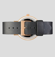The Horse Watch Original - Rose Gold / Black Face / Black Leather