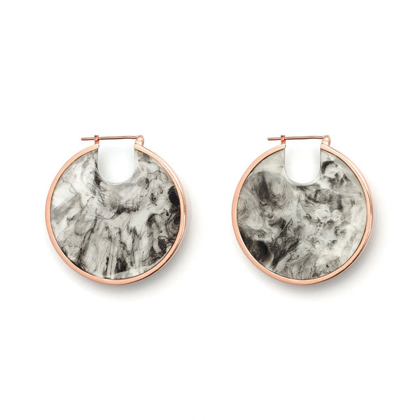 Studio Elke Eclipse Hoops - Smoke