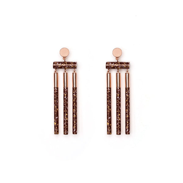 Studio Elke Isotope Earrings - Shiraz Granite