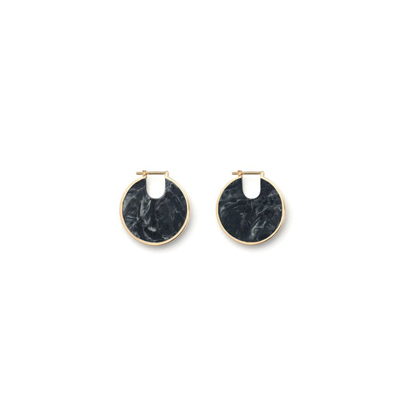 Studio Elke Small Eclipse Hoops - Midnight Jasper