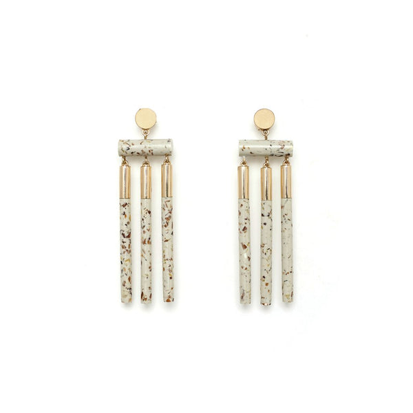 Studio Elke Isotope Earrings- Light Granite
