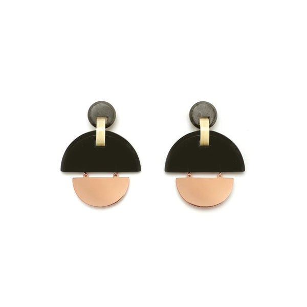 Studio Elke Kinetic Earrings - Olive