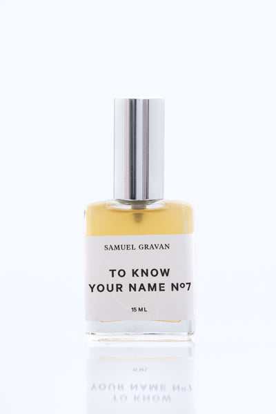Samuel Gravan Natural Perfume - To Know Your Name No.7