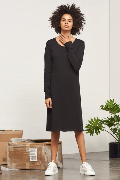 BUILDING BLOCK - Long Sleeve Dress - Black