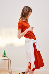 BUILDING BLOCK - Tee Shirt Dress - Burnt Orange