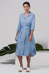 Ranger Shirt Dress - Coastal Stripe