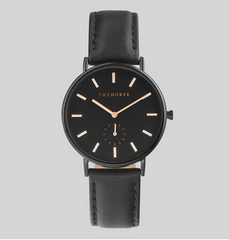 The Horse Watch Classic - Black Face / Black Leather