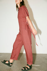 Wayside Jumpsuit -Clay