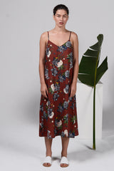 Slip Dress - Etching Floral