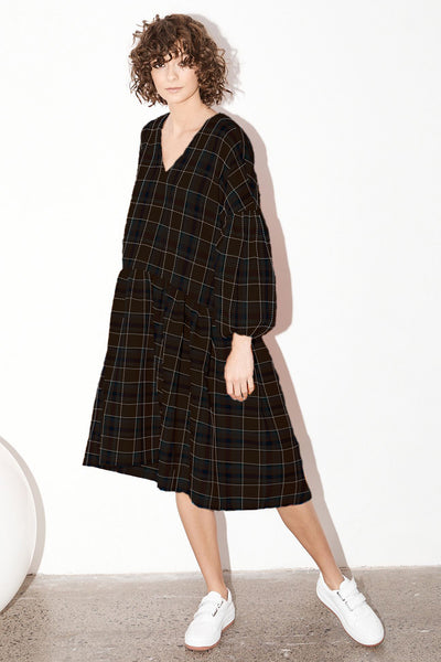 Florence Dress - Llano plaid