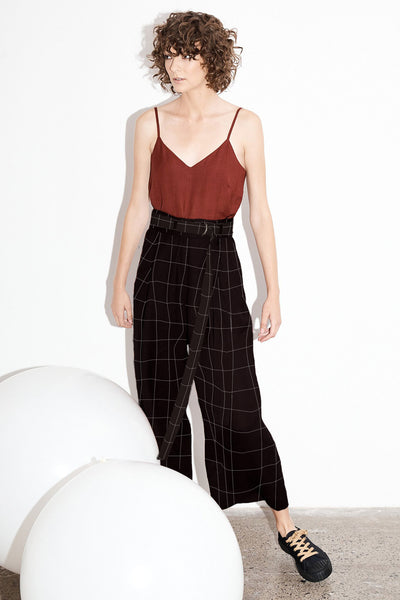 Luna Pants - Llano Plaid (DELIVERY 29th May)