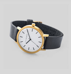 The Horse Watch Original - Brushed Gold / Black Leather