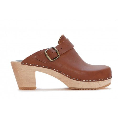 FUNKIS 964 high plain buckle Cognac